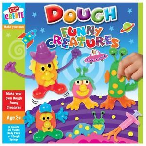 Kids Childrens Make Your Own Dough Funny Creatures Play Toy Moulding Craft Sets