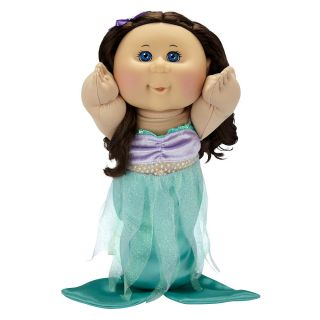 Cabbage Patch Kids Toddler Doll Caucasian Girl Brunette Mermaid Sklyer