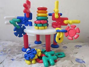 Building Toy Set Educational Baby Toddler Kids Bright Colored 44 Peices Plastic