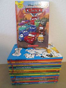 Lot 24 Disney Wonderful World of Reading Books Cars Toy Story Pooh Mickey VGUC