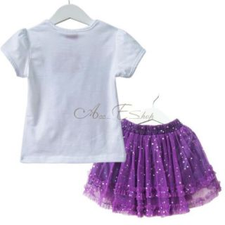 Dora The Explorer Girls T Shirt Top Tutu Dress Sequin Skirt Outfit Costume Sz 4