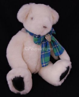Gund 1992 White Teddy Bear Victoria's Secret Plush Doll