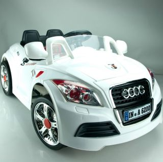 Kids Children Ride on Car Electric Powered 6V Battery Parents Remote B28A White