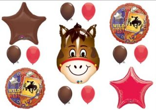 Horse Wild West Rodeo Birthday Party Ballloons Decorations Supplies Baby Shower