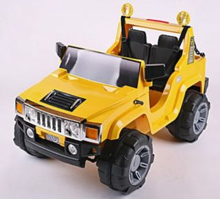 12V Battery Power Kids Ride on Hummer Jeep w Big Wheels