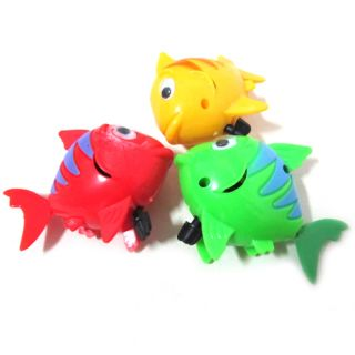 3pcs Fashion Cute Wind Up Plastic Baby Kids Bath Toy Play Swimming Fish Gift