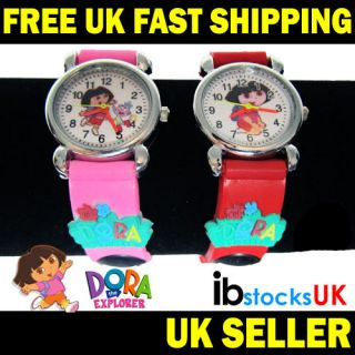 Dora The Explorer 3D Quartz Kids Watch Girls Boys Childrens Gifts Free Delivery