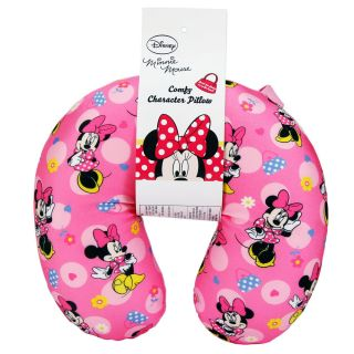Disney Minnie Mouse Kids Girl Comfy Plush Car Home Travel Neck Pillow Head New