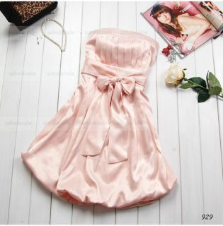 Sexy Mini Prom Short Cocktail Party Bridesmaid Dress Wrap Chest Evening Dress