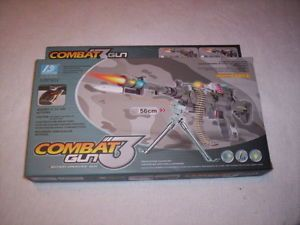 Toy Combat 3 Special Forces Machine Gun Battery Operated Plastic Toy Kids 9218B