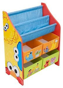 Sesame Street Elmo Kids Book Shelf Toy Storage Box Organizer Best Value Free