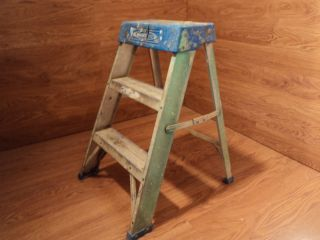 Mighty Lite 2 ft Step Ladder Gray Blue Aluminum Plastic