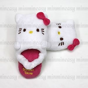 Pink Hello Kitty Child Kids Soft Stuffed Plush Toy Doll Slipper Slippers Shoes