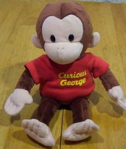 "Russ Soft Curious George Monkey 11"" Plush Stuffed Animal Toy"