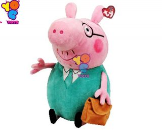 Ty Beanie Babies Peppa Pig Daddy Pig Plush Toys Doll Teddy Bear 4 Kids Large