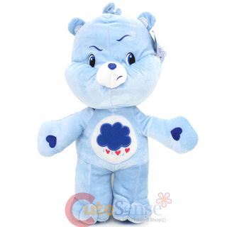 "Care Bears Grumpy Bear Large Plush Doll 16"" Soft Stuffed Toy Blue Bear"