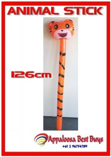 12 x Inflatable Animal Stick Tiger Bulk Inflatable Blow Up Kids Pool Party Toy