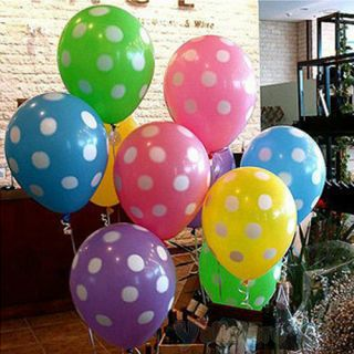 New Polka Dot Balloons Birthday Party Wedding Decoration 7 Colors