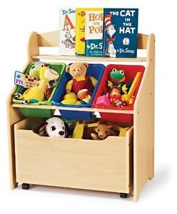 Kid's Room Book Shelf Toys Bin Organizer Storage Box