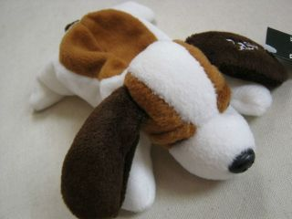 Puppy Dog Toy Stuffed Animal Girls Kids Brown White Small Basset 8""