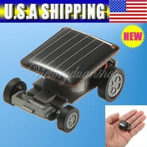 Nice Smallest Mini Solar Power Robot Educational Toy Car Auto for Children Kids