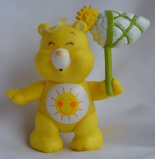 "Funshine Bear Vintage Poseable 3"" Figure Complete Care Bear Toy Kenner 1A"