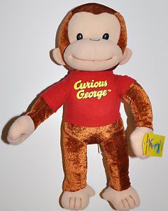 "Curious George Plush Doll 21"" Tall Licensed Monkey Plush Toy Cute Adoeable"