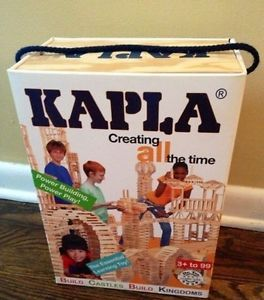 Set of 200 Pieces Kapla Wooden Building Blocks Kids Toy