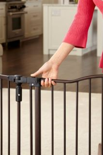 North States Deluxe Decor Baby Pet Metal Gate Espresso 4934
