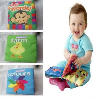 Baby Infant Kids Intelligence Development Words Cognize Cloth Book Funny Toy