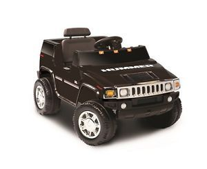 Kids Battery Powered Ride on Toy Black SUV Hummer Electric 6V Volt