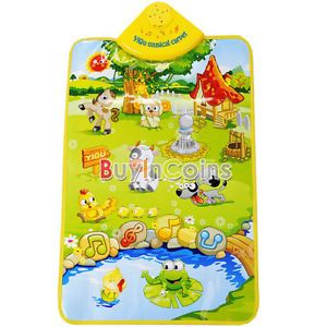 Kids Baby Farm Animal Musical Music Touch Play Singing Gym Carpet Mat Toy 2980
