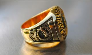 1972 Miami Dolphins Super Bowl Championship Ring