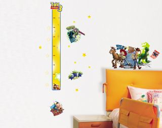 Toy Story Height Kids Boys Girls Nursery Bedrooms Rooms Wall Stickers Decals