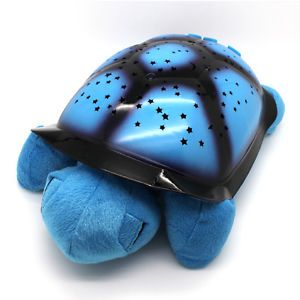 Kids Baby Sleep Night Lamp LED Light Star Projection Projector Toy Turtle Blue