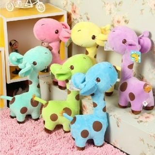 Lot 6 Pcs 8'' Plush Stuffed Animal Doll Toy Cute Soft Giraffe Baby Kids Gift