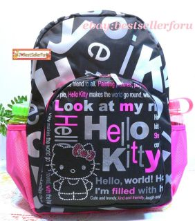 Crystal Hello Kitty Lady Kids Travel Luggage School Bag Backpack Rucksack♥sanrio