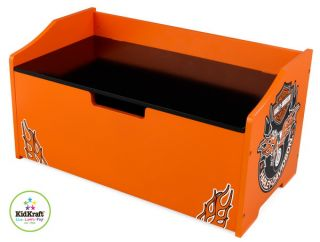 New Harley Davidson Wood Toy Chest Kids KidKraft Wooden Storage Box Bench
