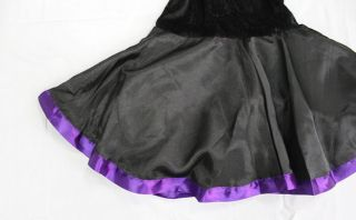 Cute Girls Purple Ribbon Witch Fancy Halloween Costume Dress for Age 10 16 s M