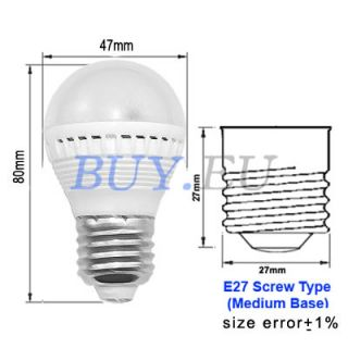 3W E27 Remote Control RGB LED SMD Light Bulb 16 Color Lamp Medium Base