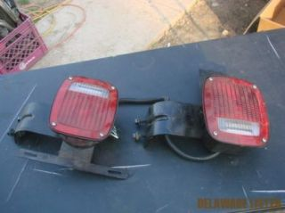 Commercial Military Truck Tractor Trailer Tail Light Set Pair