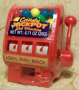 Kidsmania Red Candy Jackpot Slot Machine Dispenser Novelty Toy New