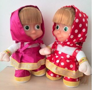 Russian Musical Masha Doll Can Repeats Your Words and Walk Sing Toy Kids