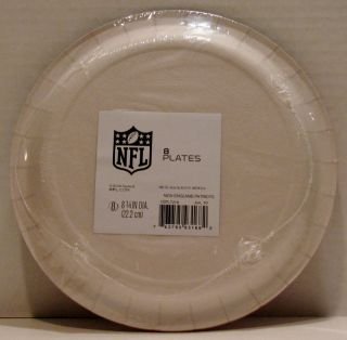 New England Patriots NFL Football Party 8 Paper Dinner Plates Hallmark