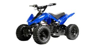 ATV 24 Volt Kids Battery Powered Electric Blue Ride on Childrens ATV Bike Toy