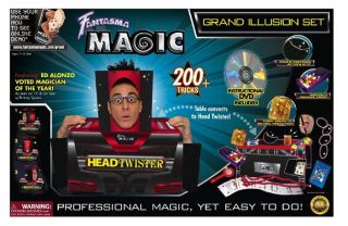 New Fantasma Grand Illusion Magic Set 200 Trick Tricks with Instructions DVD