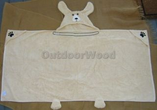 Pickles Yellow Lab Dog Hooded Towel Bath Beach Pool