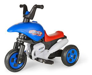 New Kids Blue Ride on Toy Electric Battery Powered Trike Tricycle Bicycle