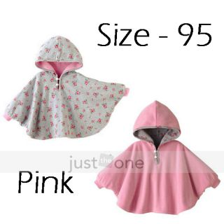 Baby Toddler Kids Boy Girl Double Side Use Hoodie Cloak Poncho Cape Mantle Coat