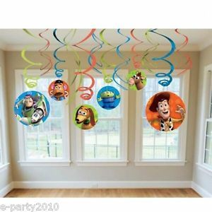 12pc Disney Toy Story Hanging Swirl Decorations Birthday Party Supplies